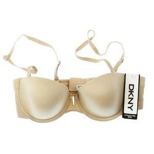DKNY Womens Skinny Nude Fusion Strapless Bra NWD